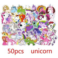 50 Pcs Unicorn Stickers For Laptop Skateboard Luggage Car Styling Bicycle New