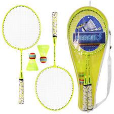 1 Paar Badmintonschläger mit Bällen 2 Spieler Badminton Set für Kinder F7X2