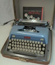 VGC Blue vintage Royal Futura 800 portable typewriter w/ case + instructions
