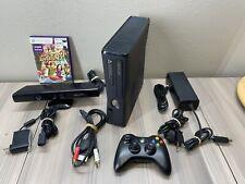 Microsoft Xbox 360 Slim 250Gb Game Bundle Lot, 1 Controller, 1 Game, Kinect