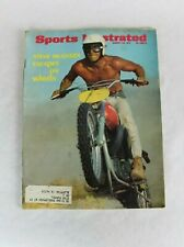 Vintage Sports Illustrated Magazine August 23 1971 Steve McQueen Motorcycle MX