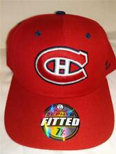 New Montreal Canadians Mens Adult Size 7 1/4 Red Zephyr Fitted Cap Hat
