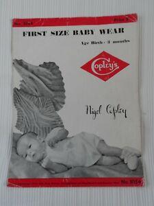 Original 1950's Knitting Pattern First Size Baby Wear Copleys 3054