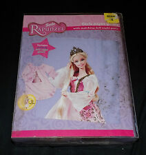RAPUNZEL BARBIE NIGHTGOWN SLEEPWEAR PAJAMA GIRLS SIZE XL 12/14 PINK WHITE NEW