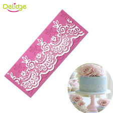 Flower Silicone Lace Impression Mold Cake Decor Baking Embossing Mat Mould Craft