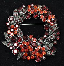 Vintage flower Style Brooches black /Red color  high-qualityBouquet gift-56