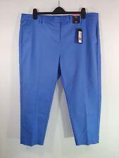 M&S Slim 7/8 Trousers UK 22 Reg Cornflower Blue Smart NEW Chic