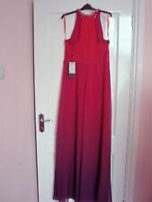 Stunning COAST dress, Size 12, summer & evening wear in pink to purple shade.
