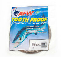 AFW Tooth Proof Stainless Steel Fishing Wire Leader 1/4lb #5 Tournament Kingfish