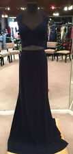 Faviana 9399 Pageant, Prom Dress, Formal Occasion Gown (Navy, Size 14W)