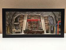 Batman Batcave shadowbox diorama (Deluxe) - memorabilia art collector gift