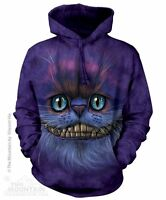 Big Face Cheshire Cat Sweatshirt Hoodie by The Mountain. Pet Cats Sizes S-2X NEW