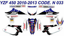 N 033 YAMAHA YZ450F 2010-2013 10-13 DECALS STICKERS GRAPHICS KIT