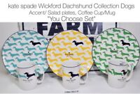 "kate spade Wickford Dachshund™ Dogs Mug Accent Plate Set ""YOU CHOOSE"" NEW HTF 19"