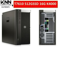 Dell Prcision T7610 E5-2630 6C 512G SSD 16GECC RAM Quadro K4000 W10P