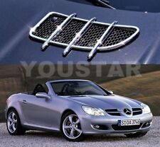 Fast EMS 3-5 Days CHROME Hood Vent Grill Fin Trims for Mercedes R171 SLK AMG