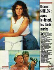 Coupure de Presse Clipping 1984 (1 page) Brooke Shields