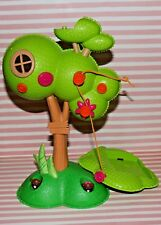 """LALALOOPSY MINI DOLL TREE HOUSE REPLACEMENT PIECE LITTLE TREE GOPHERS 10"""" TALL"""