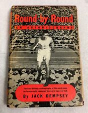 JACK DEMPSEY VINTAGE SIGNED FIRST EDITION 1940 HARDCOVER BOOK ROUND BY ROUND