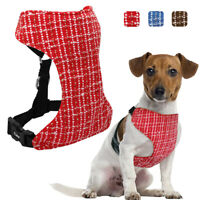 Mesh Padded Dog Harness for Car Seat Safety Belt Adjustable for Medium Large Dog