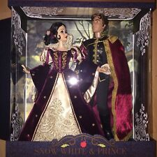 Disney Limited Edition Doll Snow White And Prince Platinum Set  1 Of 650 New