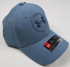 4fbc44234342 NEW Under Armour Jordan Spieth Logo Tour Fitted SM MD Golf Bass Blue UPF 30