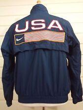 Nike Team USA Men's Jacket sz Small  S  Blue Track and Field Nylon