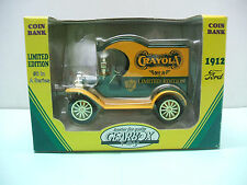 TIRELIRE CRAYOLA COIN BANK  FORD 1912 1/24 NEUF GEARBOX