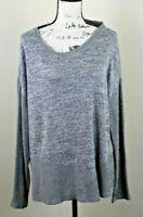 Harmony and Balance Yoga Sweater Gray Womens XL Oversized Slouchy