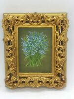 Shelia Harwood Parry Miniature Painting Botanical Landscape RMS & FRSA Bluebells