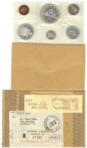 1961 - Canada - PL Set Uncirculated $0.01 to $1.00 with $1.00 ARROWHEAD
