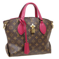 LOUIS VUITTON FLOWER ZIPPED TOTE PM 2WAY HAND BAG MI2159 MONOGRAM M44350 04874