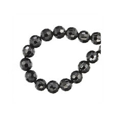 16 Cubic Zirconia Round Beads 4mm Jet Black #64754