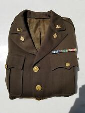 WW2 US Army Officers Tunic Captain 3rd Army Finance Division - Named