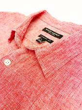 """Large BANANA REPUBLIC Linen Shirt-SS-""""Camden Fit""""-Dusty Rose-100% Linen"""