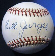 Bill Billy Jurges D.89 PSA/DNA Autographed Baseball Chicago Cubs New York Giants
