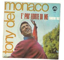 TONY DEL MONACO - E' PIU' FORTE DI ME - SANREMO '67 - CON UN PO' DI VOLONTA' -