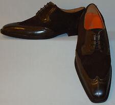 Mens Classy Rich Brown Suede Wingtip Dress Shoes Antonio Cerrelli 6391