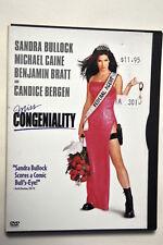 Miss Congeniality (DVD, 2001) Sandra Bullock  Michael Caine  Benjamin Bratt Cand