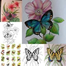 Adult Coloring Books For Women Men Kids Relaxation Butterflies Art of Nature