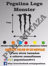 Pegatina Logo Monster (coche, moto, casco, custom, sticker, vinilo ... )