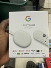 Google Chromecast with Google TV 2021 - Streaming Entertainment in 4K HDR - Snow