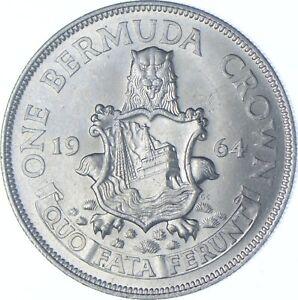 Better Date - 1964 Bermuda 1 Crown - SILVER *176