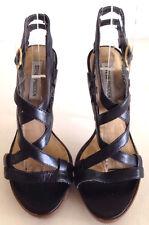 Steve Madden Black Strappy Leather Heels Size 5.5 M