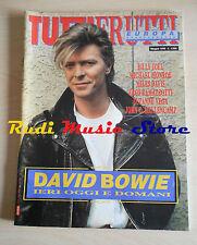 rivista TUTTIFRUTTI Maggio/1990 ODavid Bowie Billy Joel Miles Davis Eros No cd