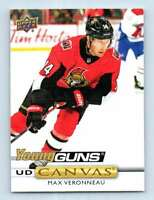 2019-20 Upper Deck Young Guns Canvas Max Veronneau RC #C101