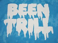 #BEEN TRILL# MENS TURQUOISE BLUE TIE DIE SIGNATURE GRAPHIC SWEATSHIRT SIZE LARGE
