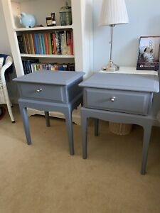Matching Pair Of Stag Minstrel Bedside Tables