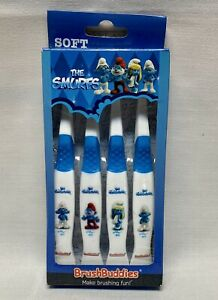 Brush Buddies The Smurfs Manual Toothbrush 4 Pack