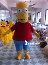The Simpsons Cartoon Yellow Bart Simpson Mascot Cartoon Costume Adult Size